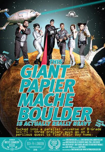 This Giant Papier-Mâché Boulder Is Actually Really Heavy Poster